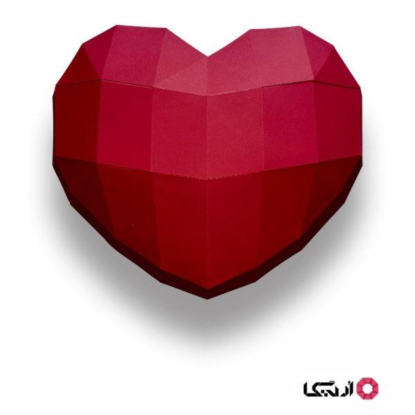قلب هدیه ولنتاین پازل سه بعدی اریگا