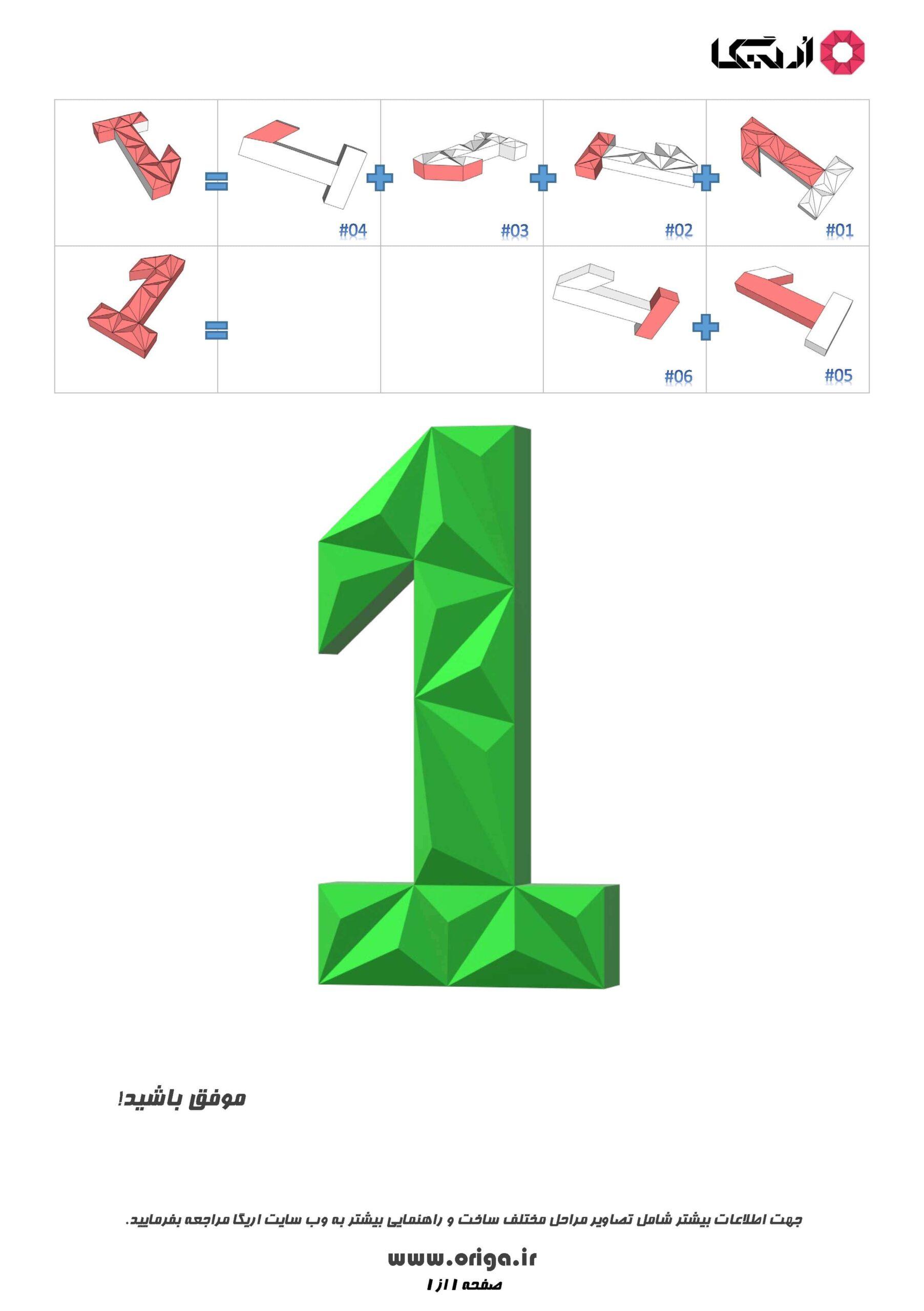 راهنمای ساخت عدد 1